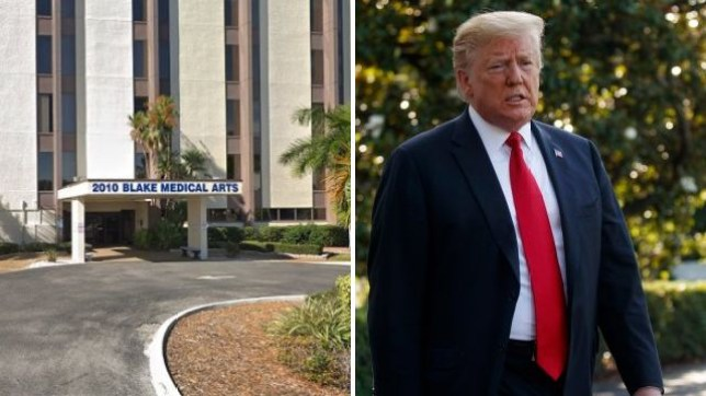 Trump, Florida, woman, stabbed herself, Palmetto, Blake medical center