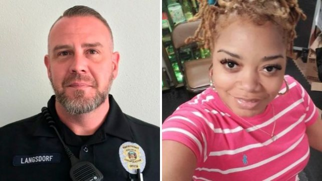 Kashina Harper, right, apologized for streaming the final moments of shot police officer Michael Langsdorf on Facebook Live