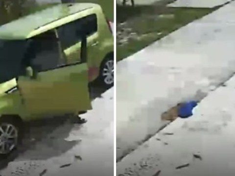 Stranger parks on man's driveway, poops on it, then drives off