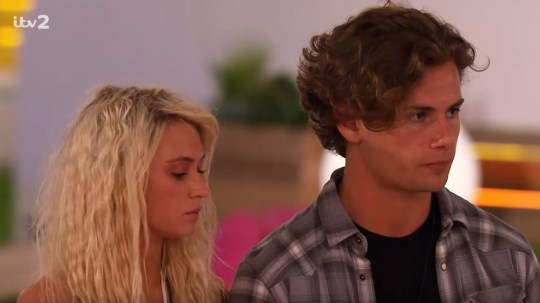 Lucie and Joe Love Island elimination pic