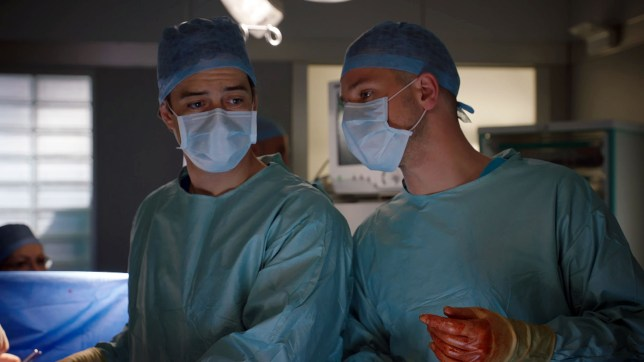 Lofty and Dom clash in Holby City