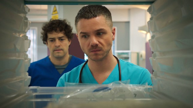 Lofty and Dominic ripped apart in Holby City