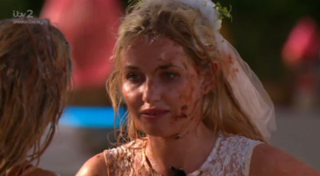 Love Island's Amy Hart food fight
