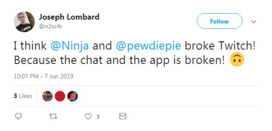 Ninja and Pewdiepie 'break' Twitch during Fortnite