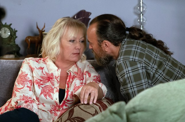 Jan kisses Eileen in Coronation Street
