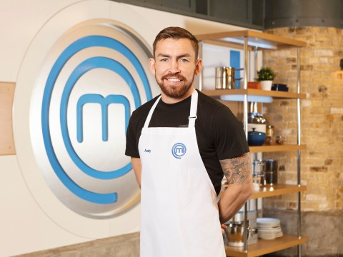 Celebrity Masterchef's Andy Grant is first star to get booted off with overcooked lamb dish