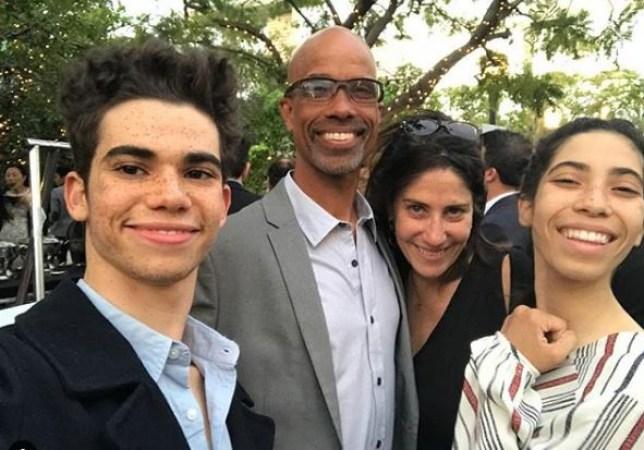 Cameron Boyce with family
