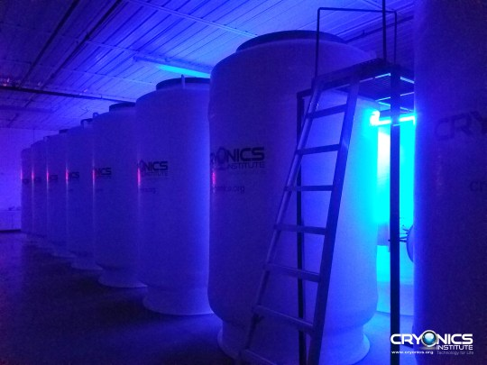 The Cryonics Institute in the US currently has over 100 patients frozen in liquid nitrogen (Cryonics Institute)