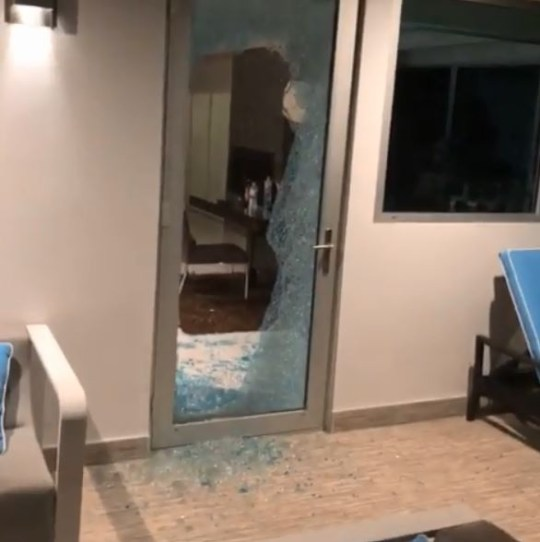 The thieves smashed a glass window to enter Daniel Sturridge's home