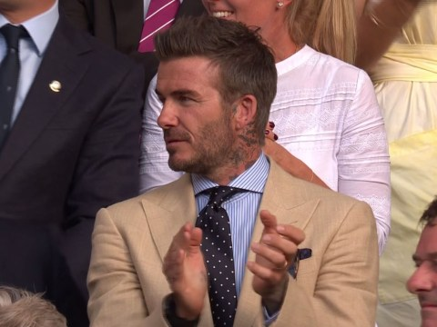 David Beckham's reaction to Roger Federer beating Rafael Nadal in Wimbledon thriller