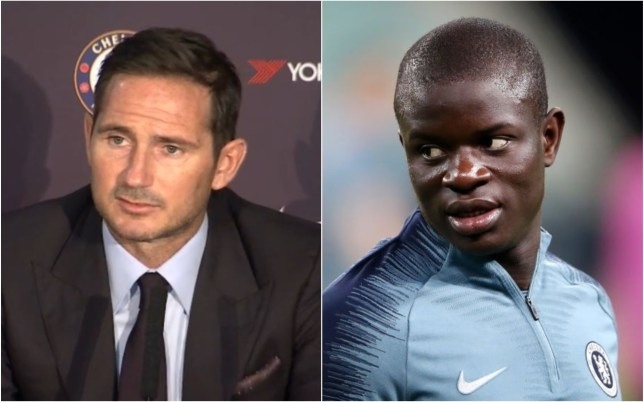 Frank Lampard was asked about N'Golo Kante's future at Chelsea