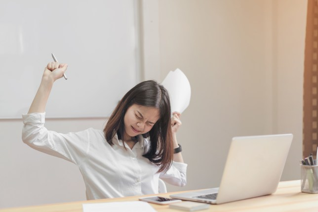 The desk stretches for lower back pain at work