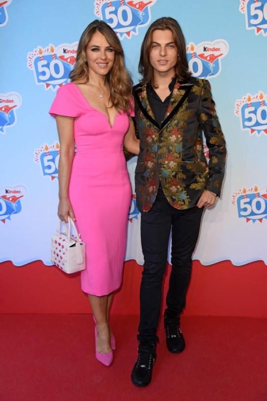 Liz and Damian Hurley