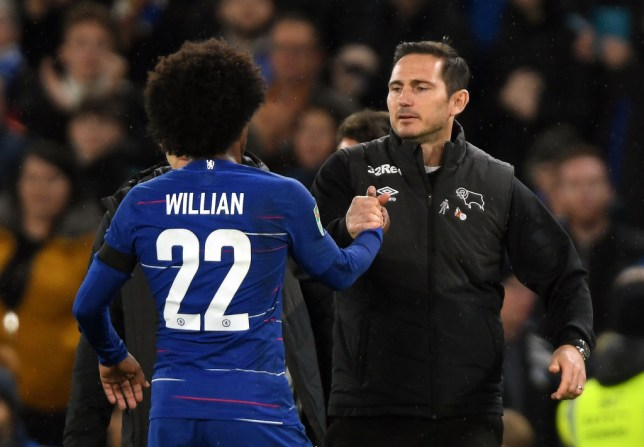 new product 4a4ad 6fb45 Frank Lampard hits back at Willian over Eden Hazard squad ...