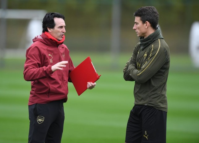 Unai Emery and Laurent Koscielny