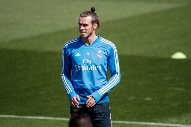 Gareth Bale in Real Madrid training