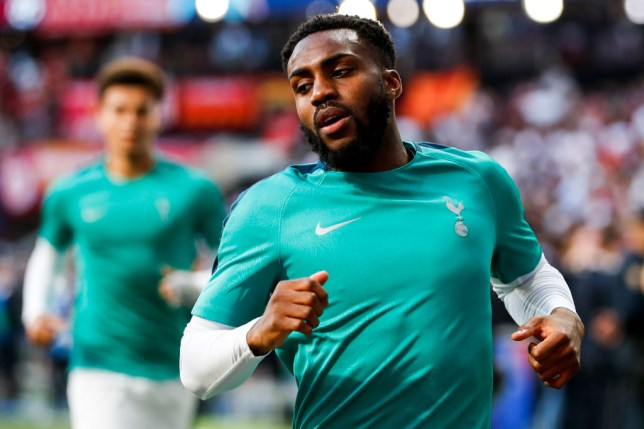 Danny Rose training with Spurs