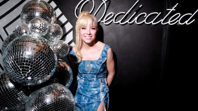 Carly Rae Jepsen with disco balls