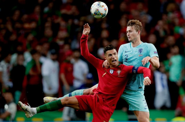Cristiano Ronaldo and Matthijs de Ligt clashed in the final of this summer's UEFA Nations League final