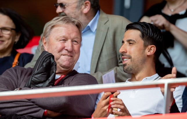 Sami Khedira atteneded Arsenal's pre-season friendly against Lyon at Emirates Stadium