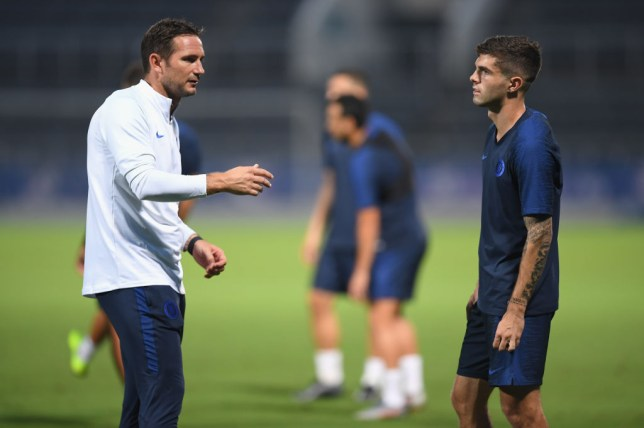 Frank Lampard and Christian Pulisic