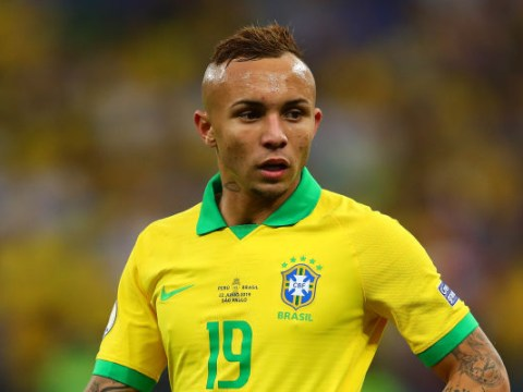 Man Utd target Everton Soares' agent rules out switch to Man City