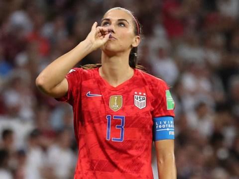 England striker Lianne Sanderson slams Alex Morgan's 'disrespectful' tea-drinking celebration