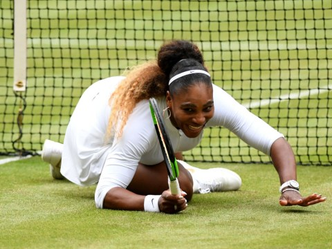 Serena Williams takes hilarious tumble in winning start to mixed doubles with Andy Murray