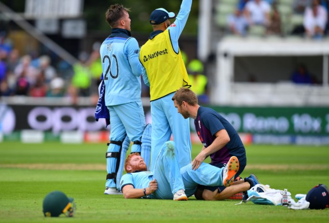 Jonny Bairstow suffered a suspected injury as England knocked Australia out of the Cricket World Cup