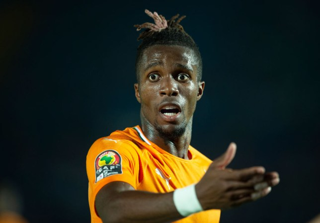 Wilfried Zaha was the subject of failed bids from Arsenal and Everton during the transfer window