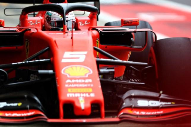 Sebastian Vettel in the Scuderia Ferrari SF90 at Silverstone