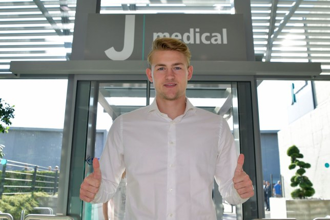 Matthijs de Ligt was accompanied by Mino Raiola as he arrived for his Juventus medical