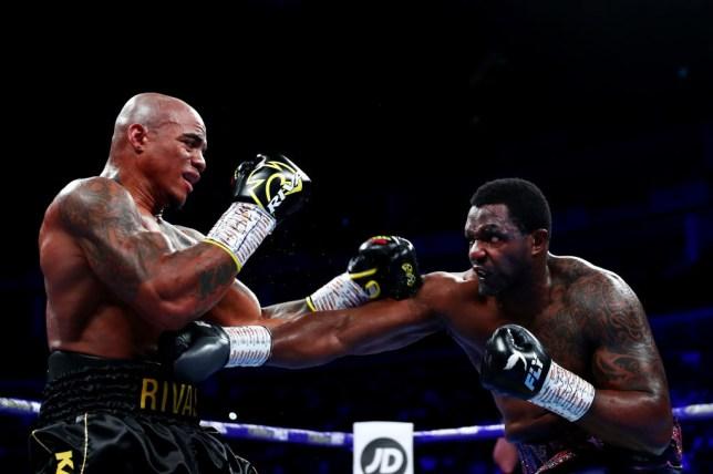 Dillian Whyte punches Oscar Rivas
