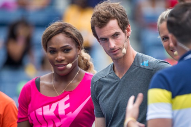 Serena Williams and Andy Murray stand side-by-side