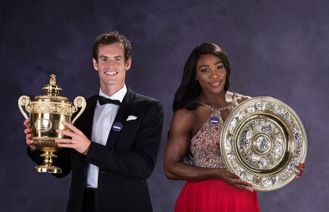 Andy Murray and Serena WIlliams win their Wimbledon titles