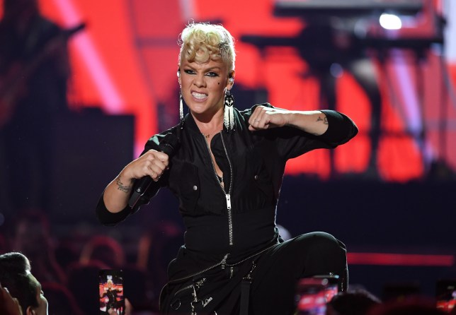Pink performs onstage during the 2017 iHeartRadio Music Festival at T-Mobile Arena on September 22, 2017 in Las Vegas, Nevada