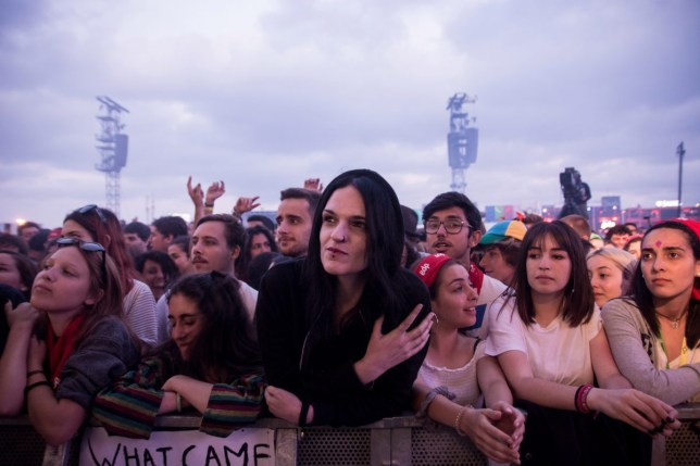 Fans during Nine Inch Nails performance on the NOS Stage on day 1 of NOS Alive festival on July 12, 2018