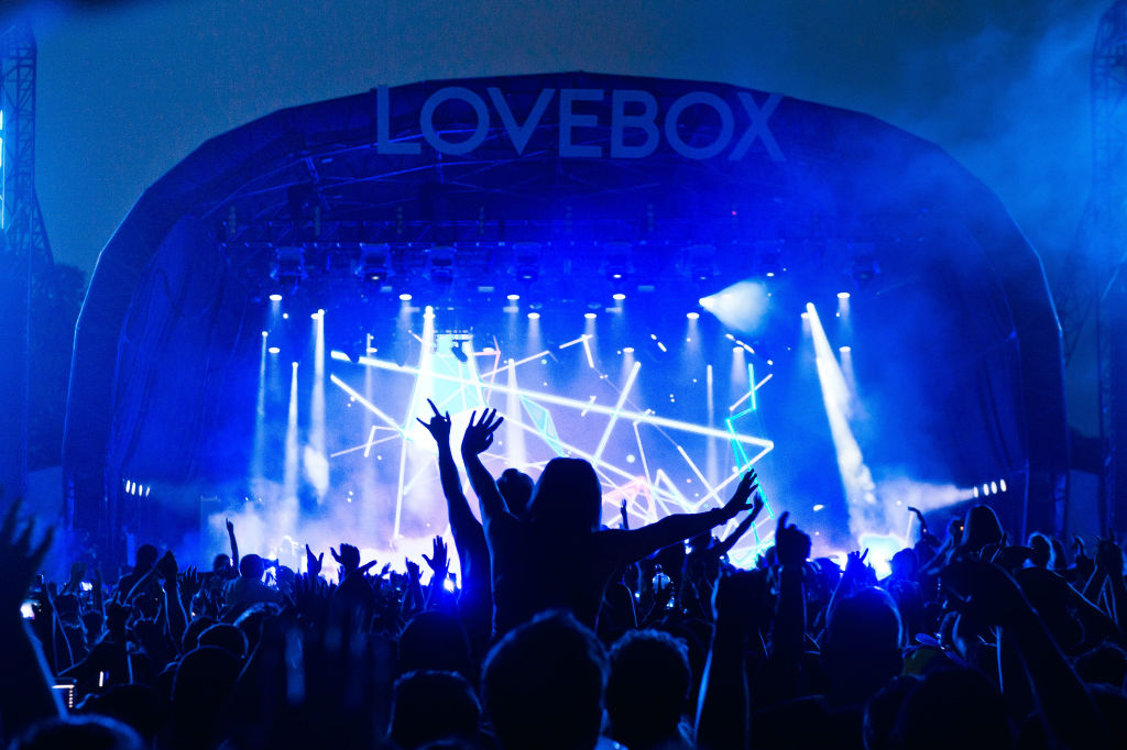 People dancing during categorical theatre of London's Lovebox festival