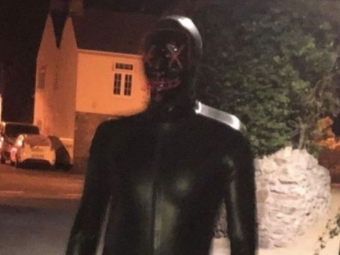 Man in gimp suit 'grunted and touched his groin as he ran at woman'