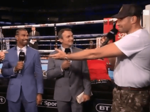 David Haye laughs off Tyson Fury's invite to make comeback against him