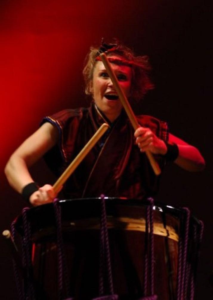 Liz Walter drumming