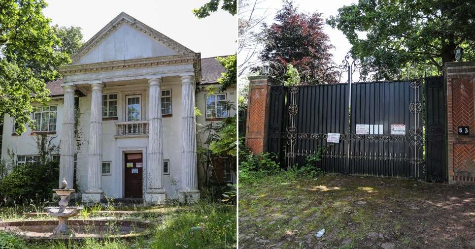 Multi-million pound mansions left to rot in one of London's most expensive streets