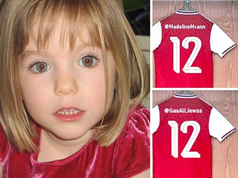 Arsenal kit launch horribly backfires with Madeleine McCann and Hitler tweets