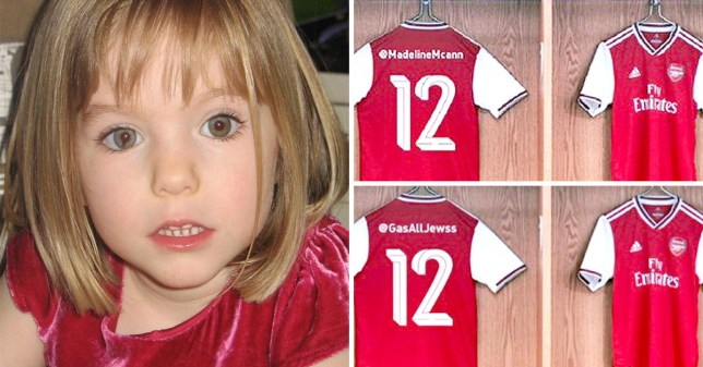 buy popular 92db6 acb5b Arsenal kit launch horribly backfires with Madeleine McCann ...