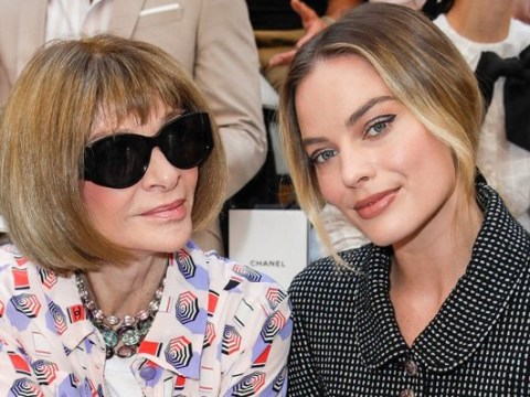 Margot Robbie brings the sass to Chanel show as she hangs with Anna Wintour