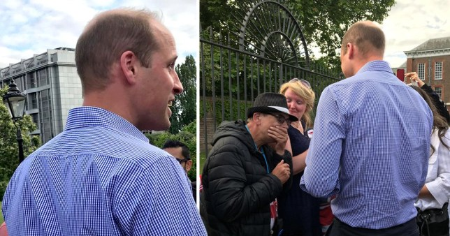 Prince William surprises emotional well-wishers marking Princess Diana's birthday