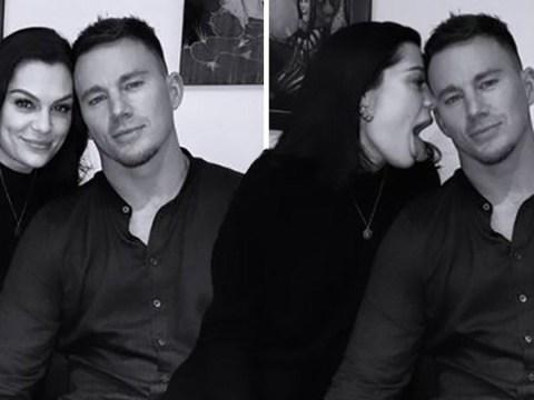 Jessie J licks boyfriend Channing Tatum in playful date night pictures