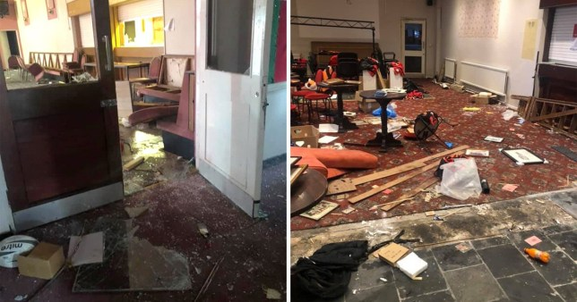 Penygroes Rugby club trashed by mindless yobs