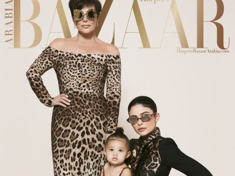 Kylie Jenner's daughter Stormi is a little boss on first magazine cover for Harper's Bazaar Arabia