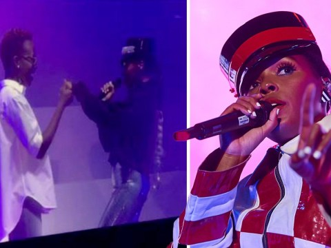 Lupita Nyong'o twerks with Janelle Monae on-stage at Wembley Arena during surprise appearance